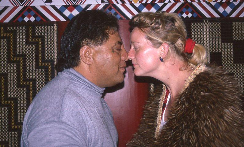 Begroetingsritueel van de Maori