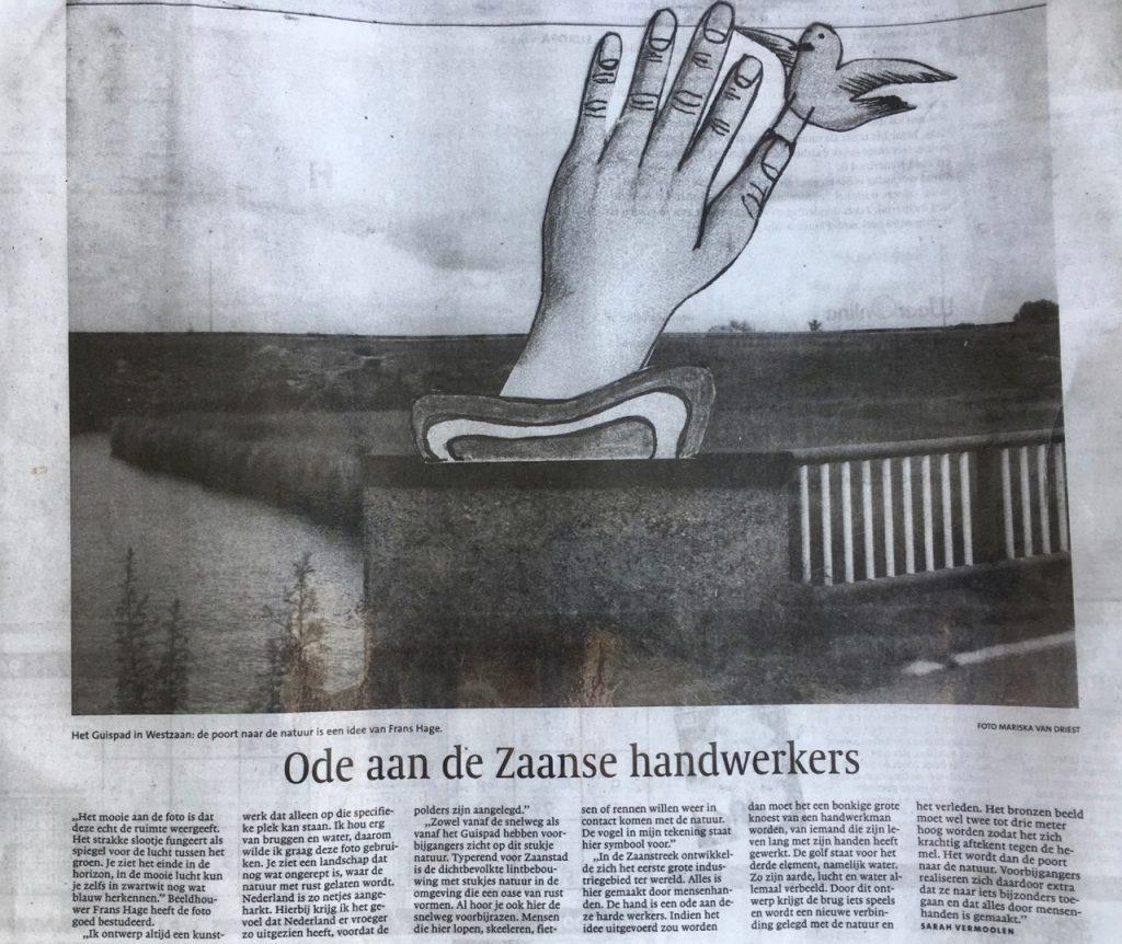 Foto Mariska van Driest, kunst Frans Hage, tekst Sarah Vermoolen