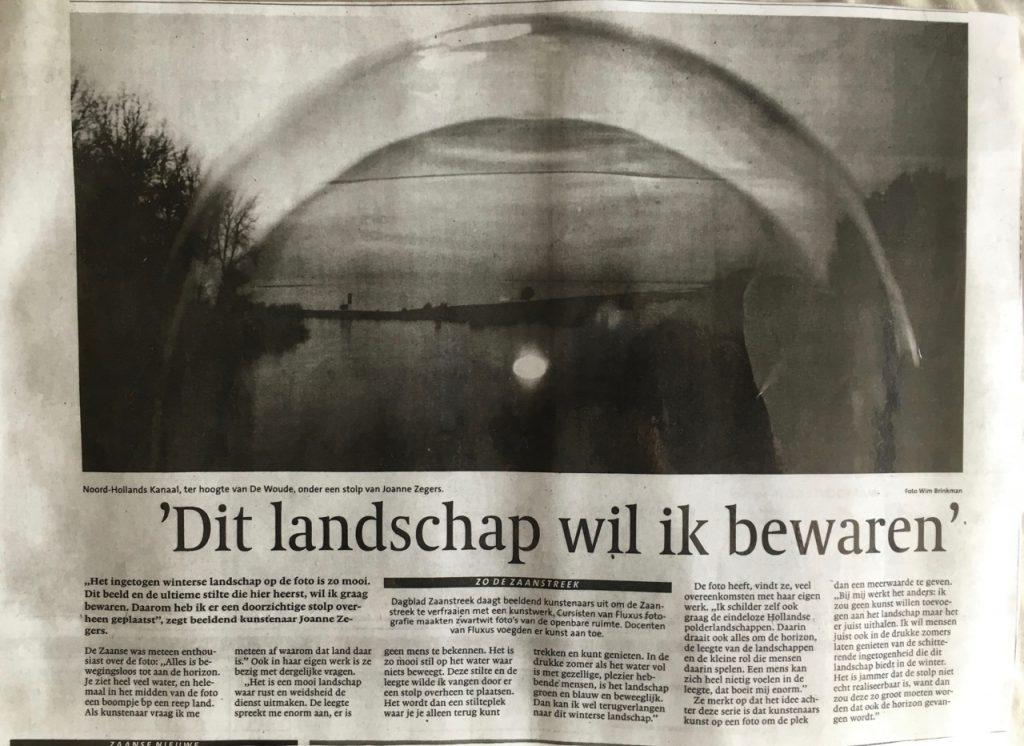 Foto Wim Brinkman, kunst Joanne Zegers, tekst Sarah Vermoolen