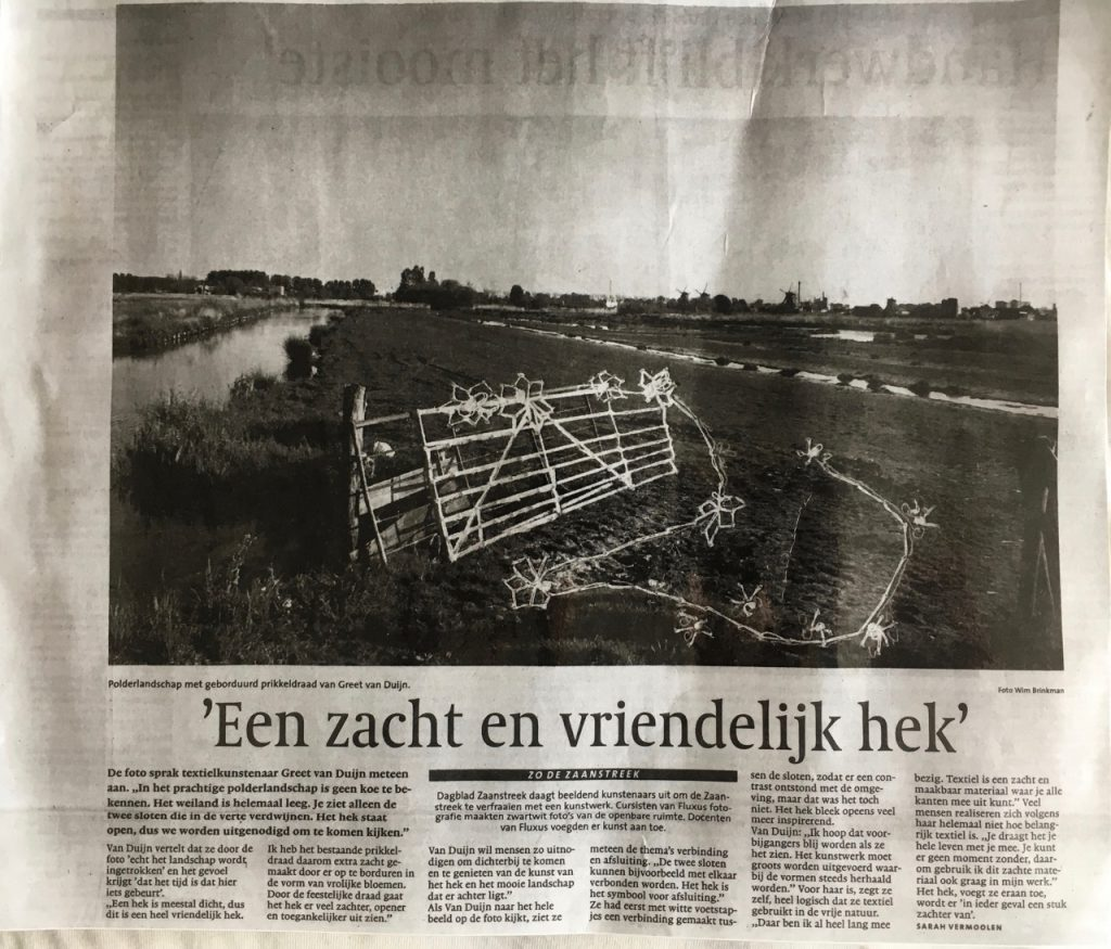 Foto Wim Brinkman, kunst Greet van Dijn, tekst Sarah Vermoolen