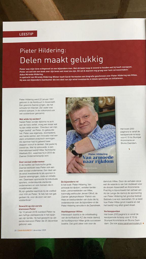Boek Pieter Hildering, van armoede naar rijkdom